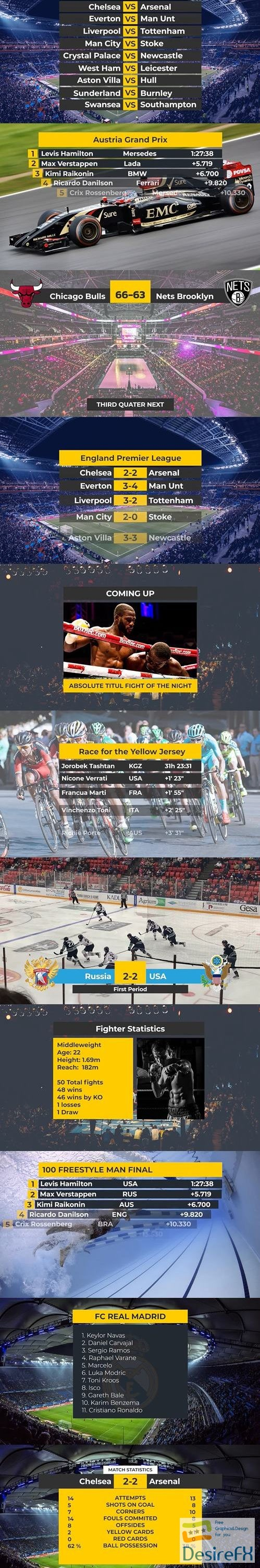 Sport Titles Graphics Pack 63815