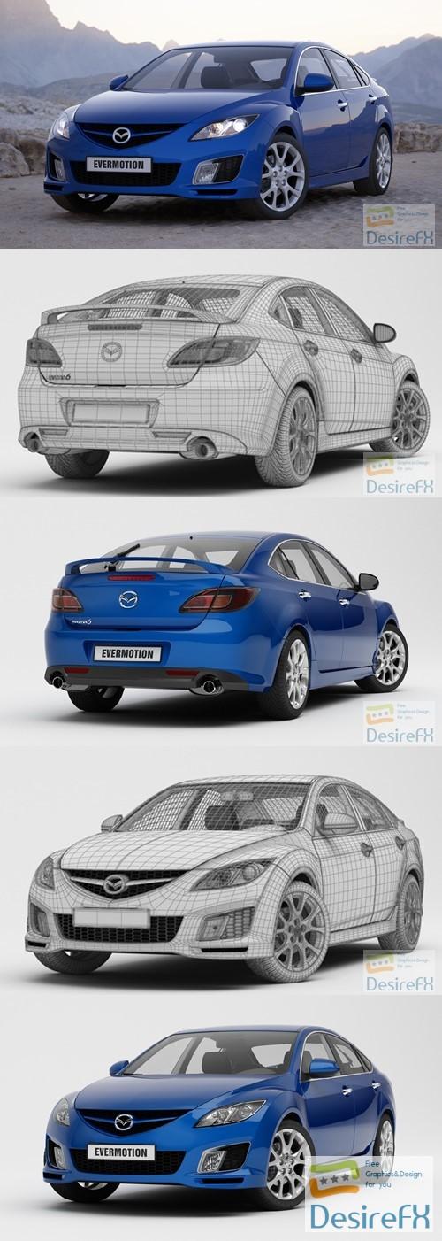 Evermotion Mazda 6 3D Model