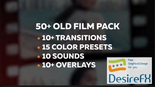 50+ Old Film Pack Transitions, Color Presets