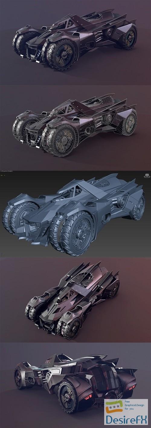 Batmobile concept 3D model