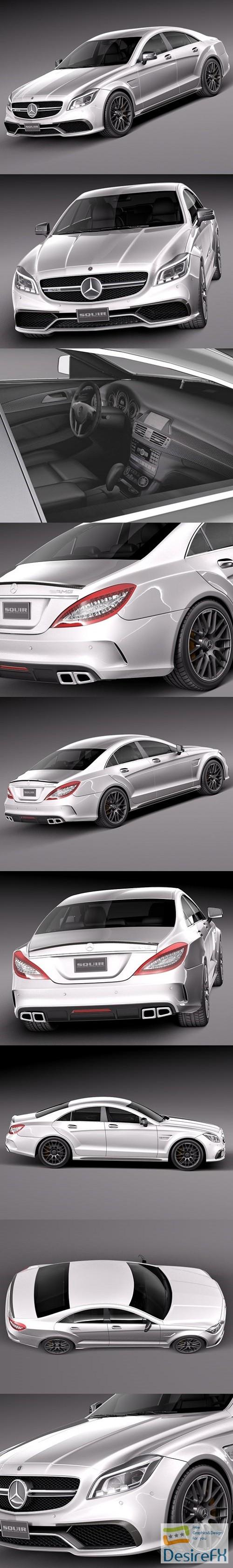 3d-models - Mercedes-Benz CLS63 AMG 2015 3d Model