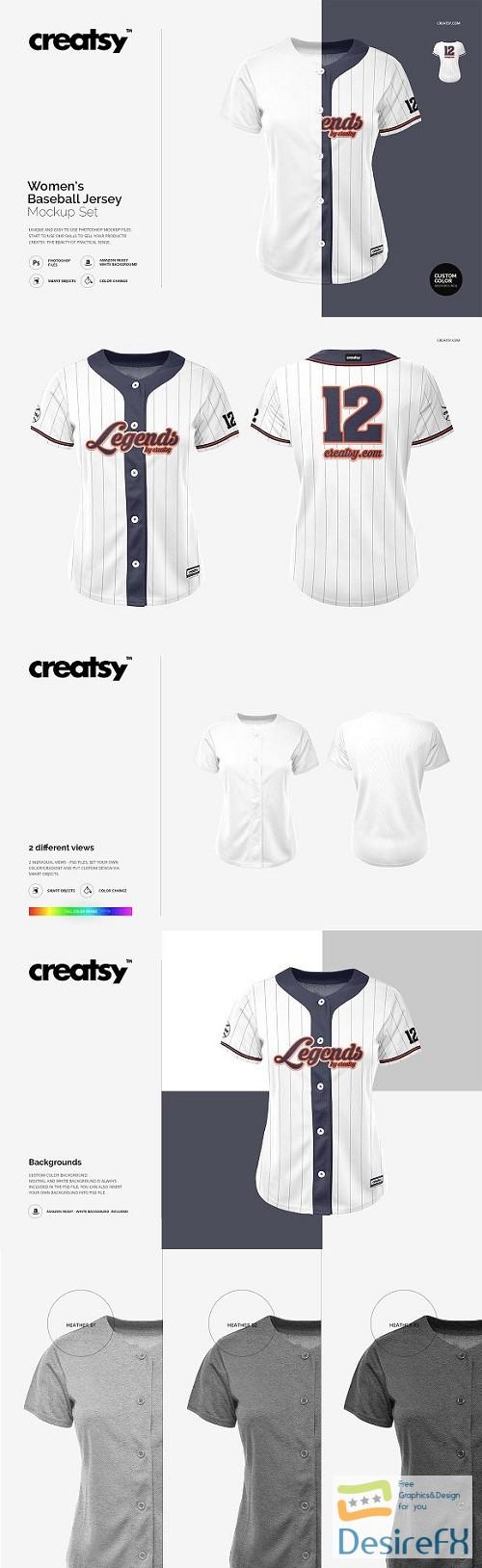Download Desirefx.com   Download Women's Baseball Jersey Mockup Set... Free Mockups