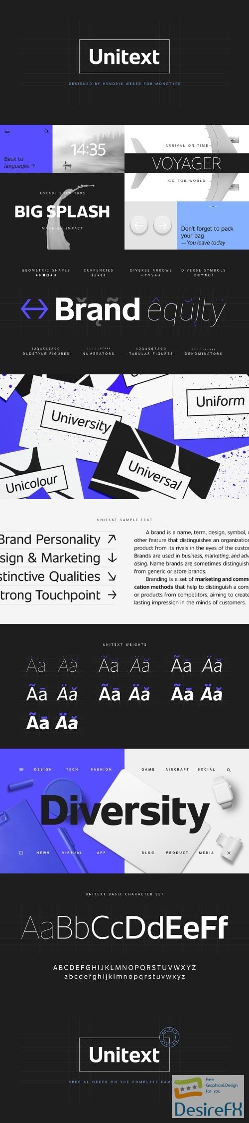 Desirefx com | Download Unitext font family