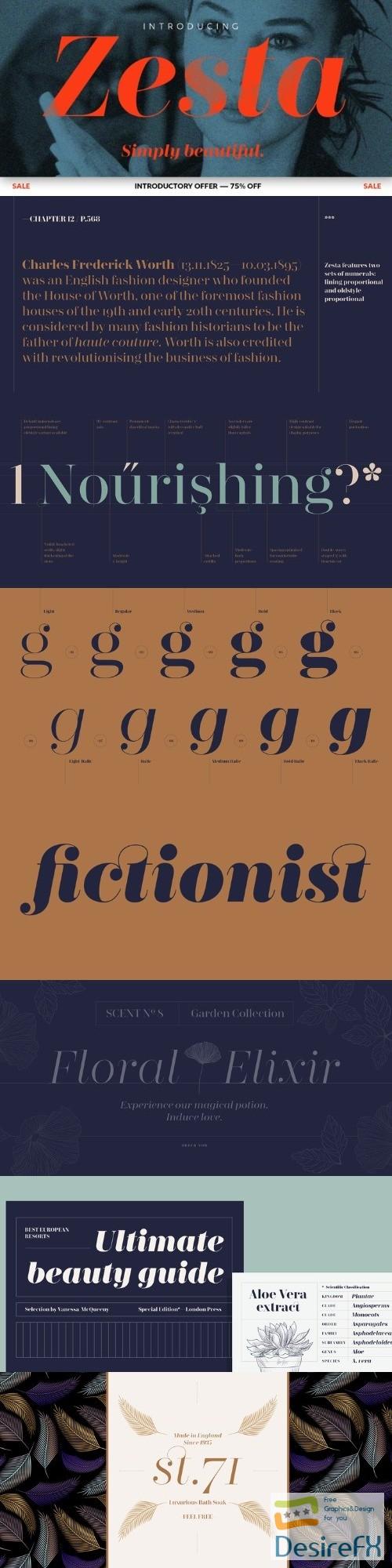 Desirefx com | Download Zesta font family