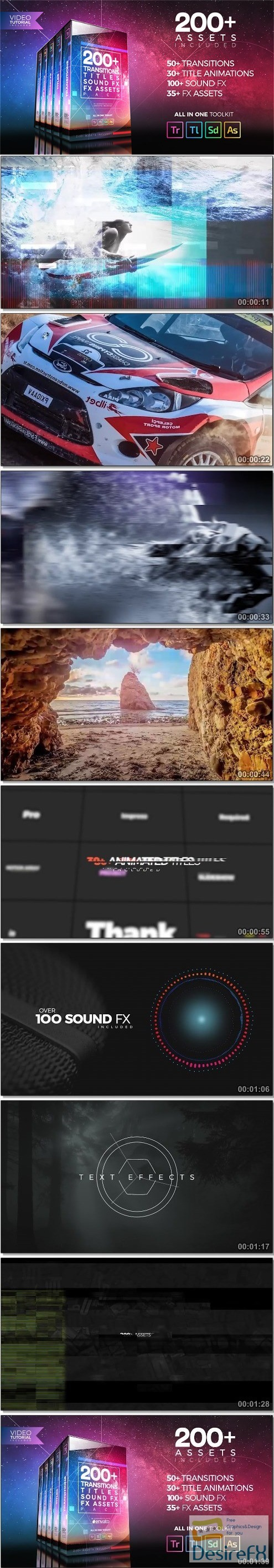 premiere-pro - Videohive 200+ Pack: Transitions, Titles, Sound FX 21474240