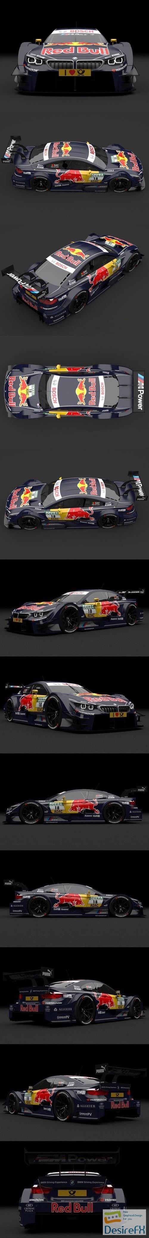 BMW M4 DTM Da Costa 2014 3D Model