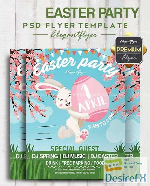 15 Excellent Flyer Templates For Your Next Event: Download Easter Party V15 2018 Flyer PSD