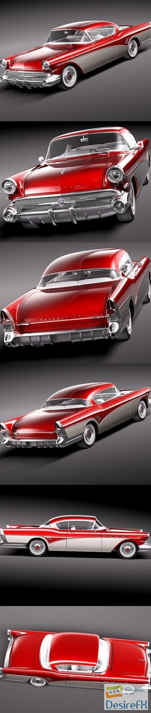 3d-models - Buick Roadmaster 1957 3d Model