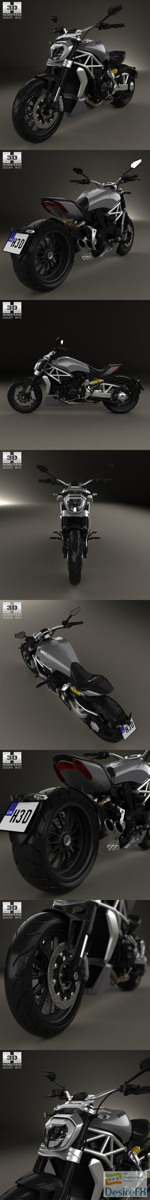 3d-models - Hum3D - Ducati X-Diavel 2016 3D Model