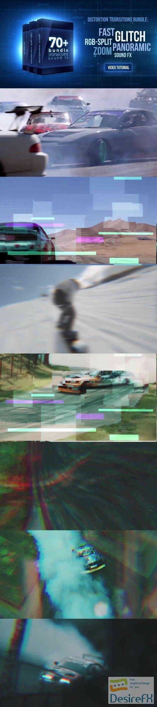 Videohive 70+ Bundle: Glitch and RGB-split Transitions, Sound FX 21470574