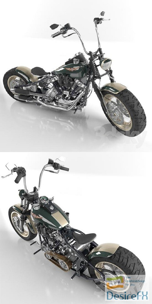 Harley Davidson Knucklehead 3D Model