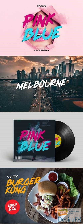fonts - Pink Blue font 2455370