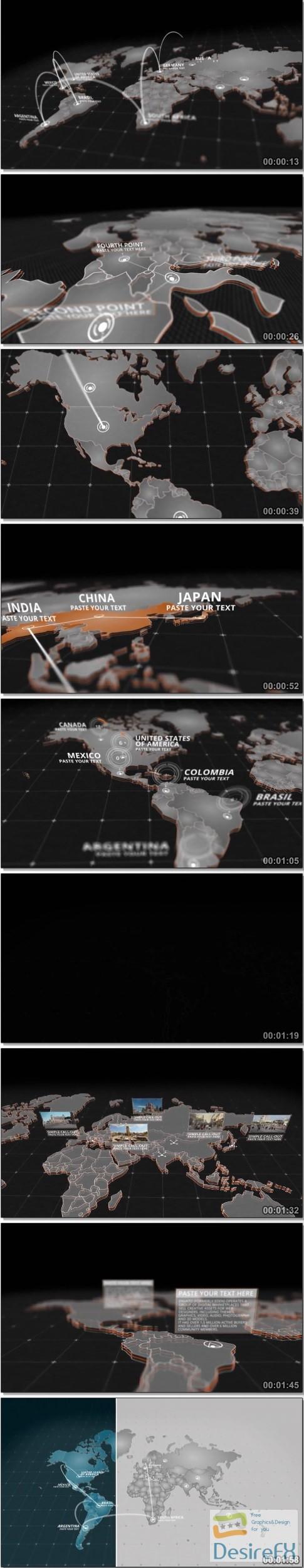 Desirefx download free videohive world map kit 20592273 after effects projects videohive world map kit 20592273 gumiabroncs Gallery