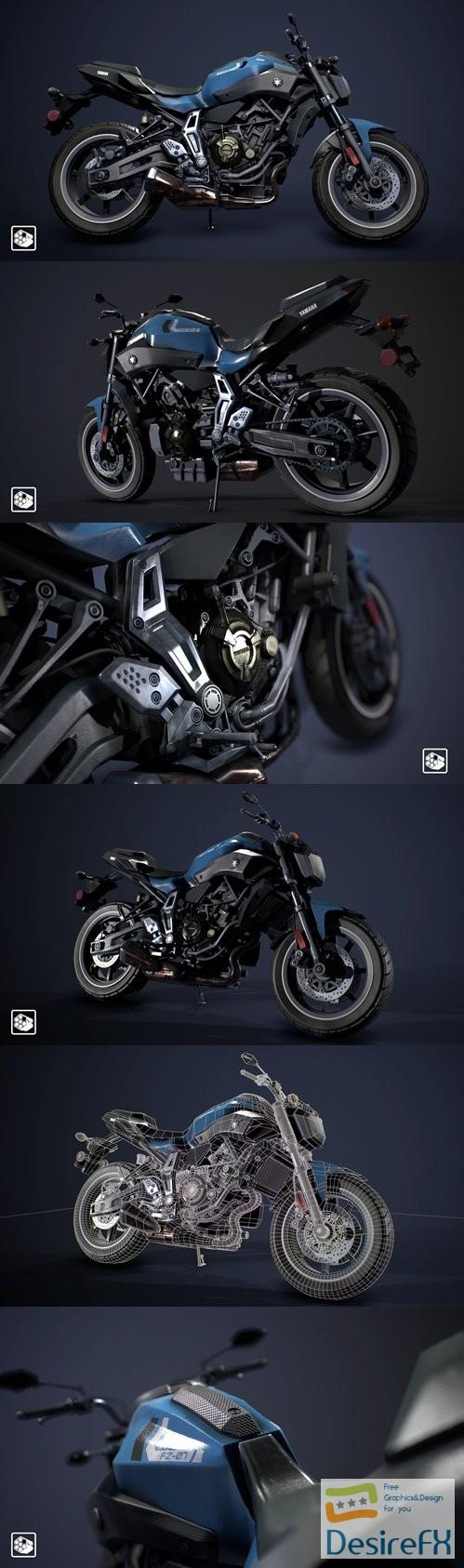 Yamaha FZ-07 3D Model