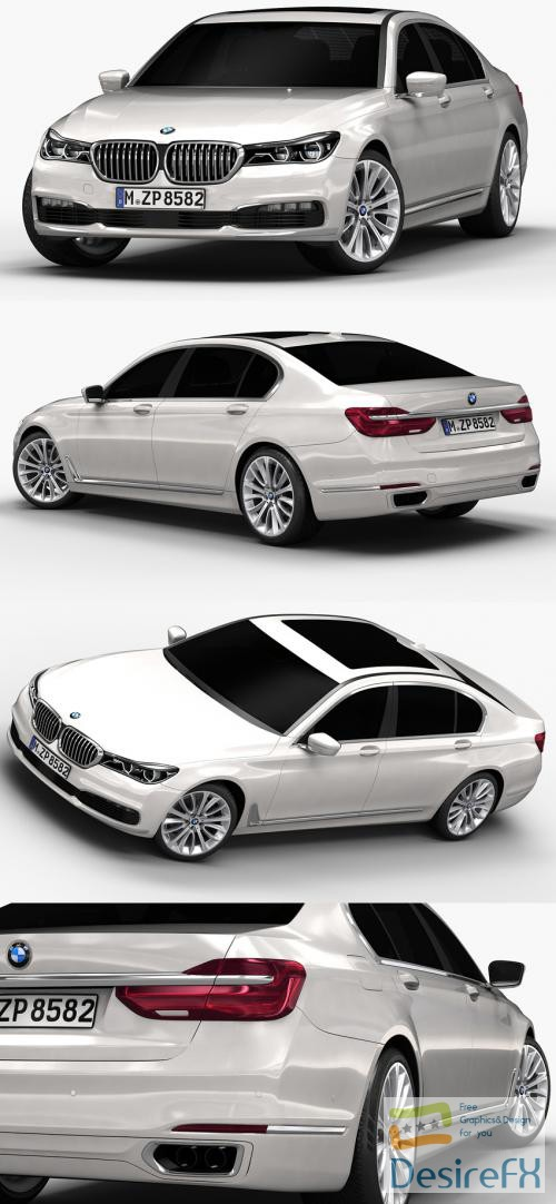 BMW 7 Series 2016 3D Model