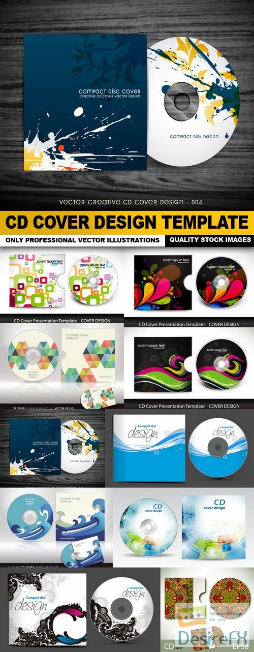 stock-vectors - CD Cover Design Template - 10 Vector