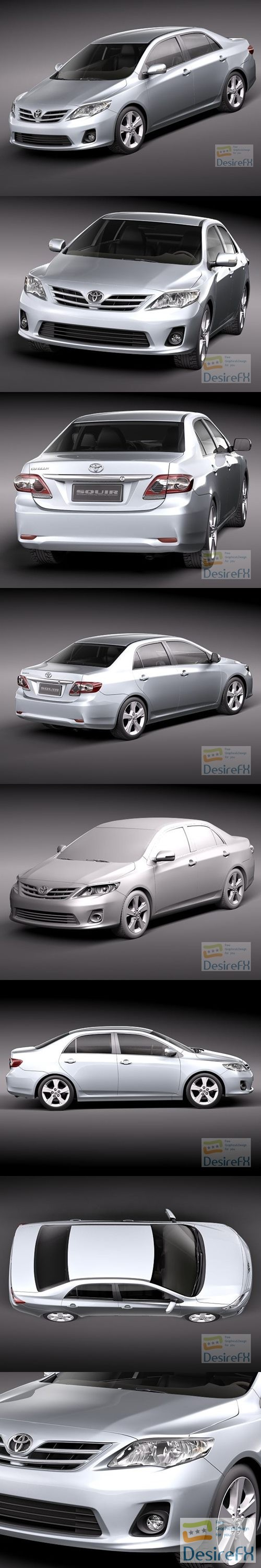 3d-models - Toyota Corolla 2010 Sedan 3D Model