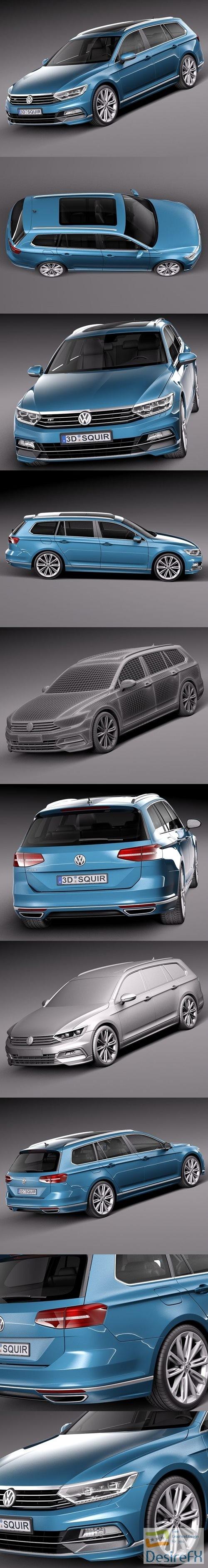 Volkswagen Passat Variant R-line 2015 3D Model