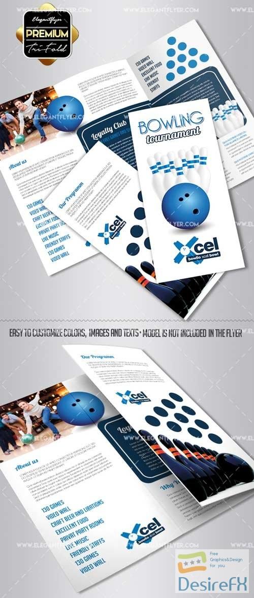 Bowling V2 2018 Tri-Fold Brochure PSD Template