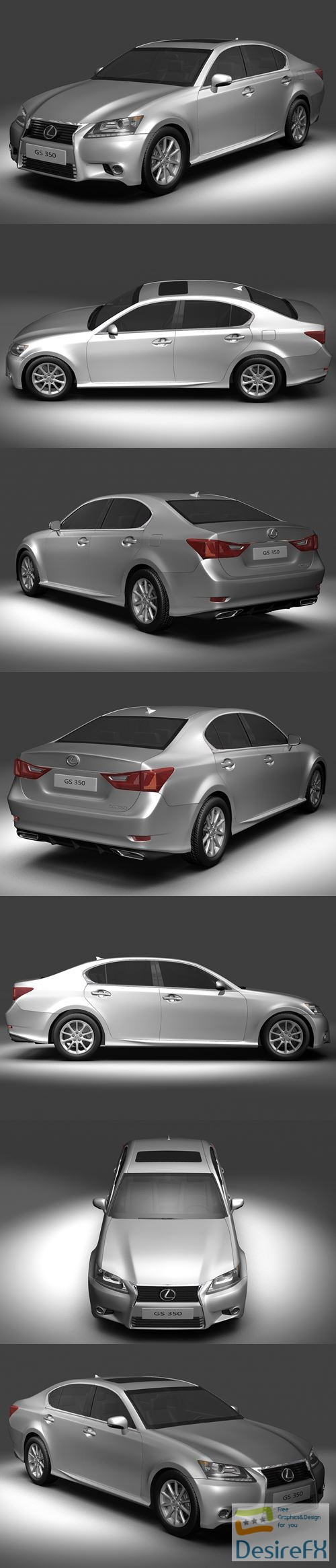 Lexus GS350 2013 3D Model