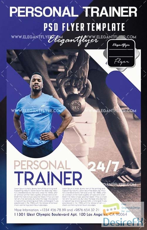 Desirefx Com Download Personal Trainer V1 2018 Flyer Psd
