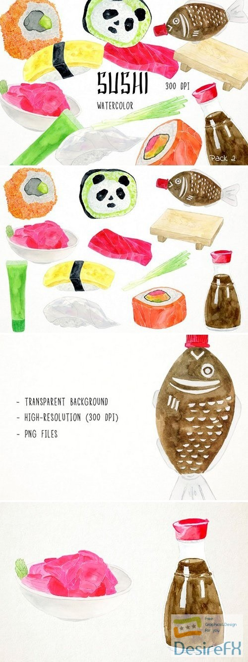 stock-images - Sushi Clipart Pack 2 2486349