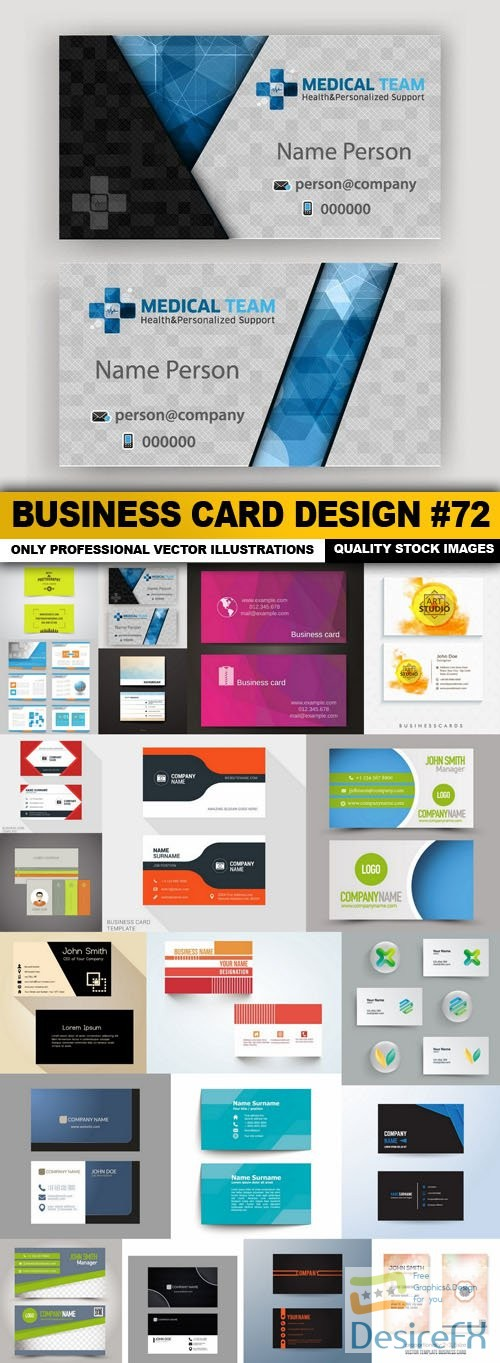 Business Card Design #72 - 20 Vector