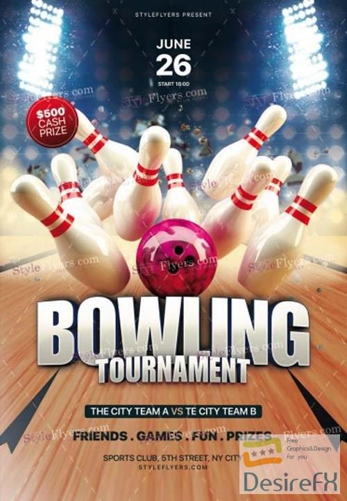 Bowling Tournament V7 2018 PSD Flyer Template