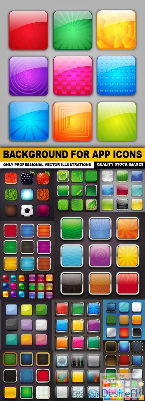 stock-vectors - Background For App Icons - 15 Vector