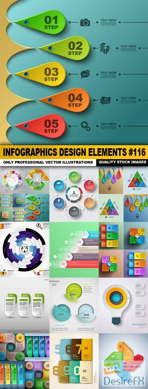 stock-vectors - Infographics Design Elements #116 - 15 Vector