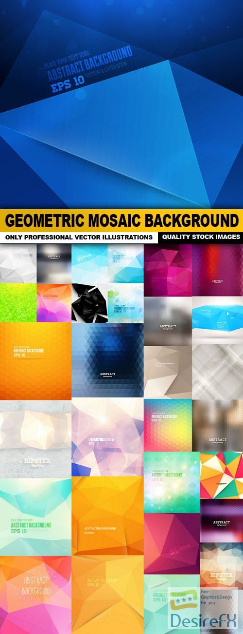 stock-vectors - Geometric Mosaic Background - 33 Vector