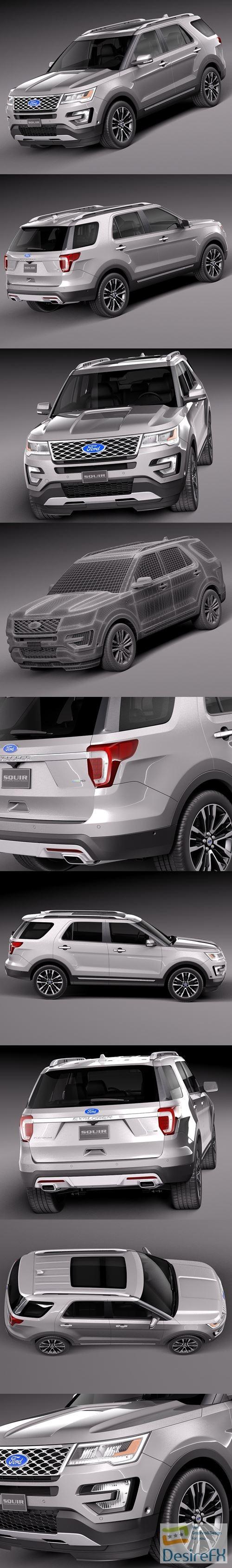 Ford Explorer 2016 3d model