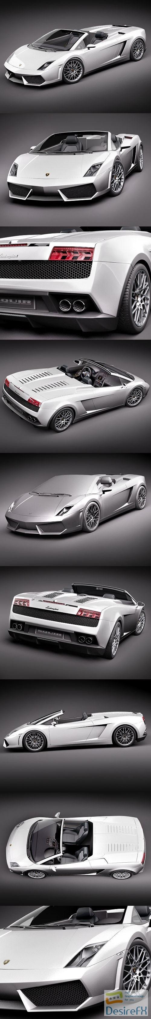 3d-models - Lamborghini Gallardo LP560-4 Spyder 3D Model