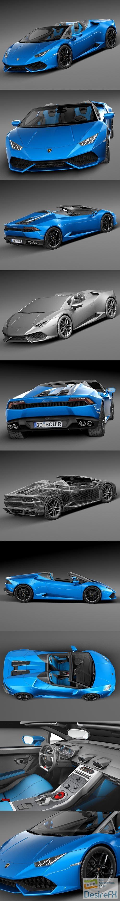 Lamborghini Huracan LP610-4 Spyder 2017 3D Model