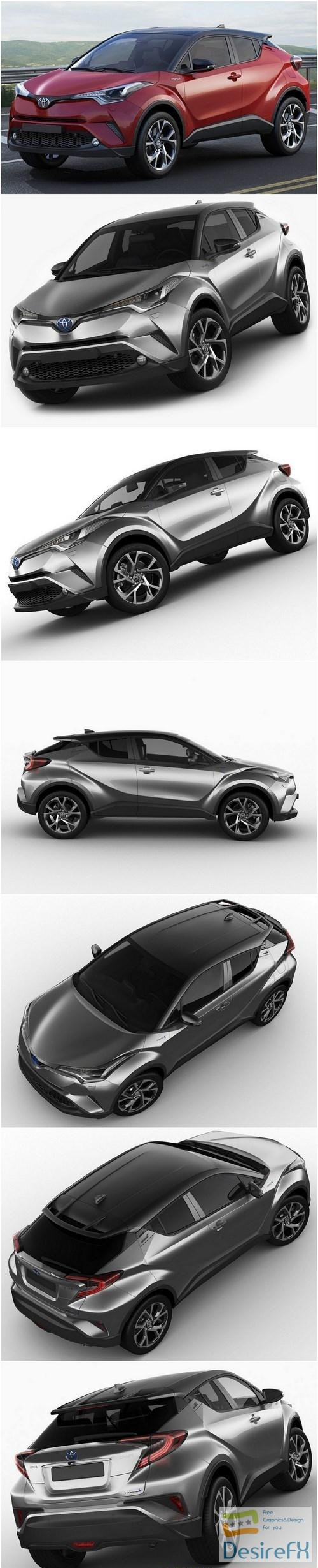 3d-models - Toyota C-HR 2017 3D model