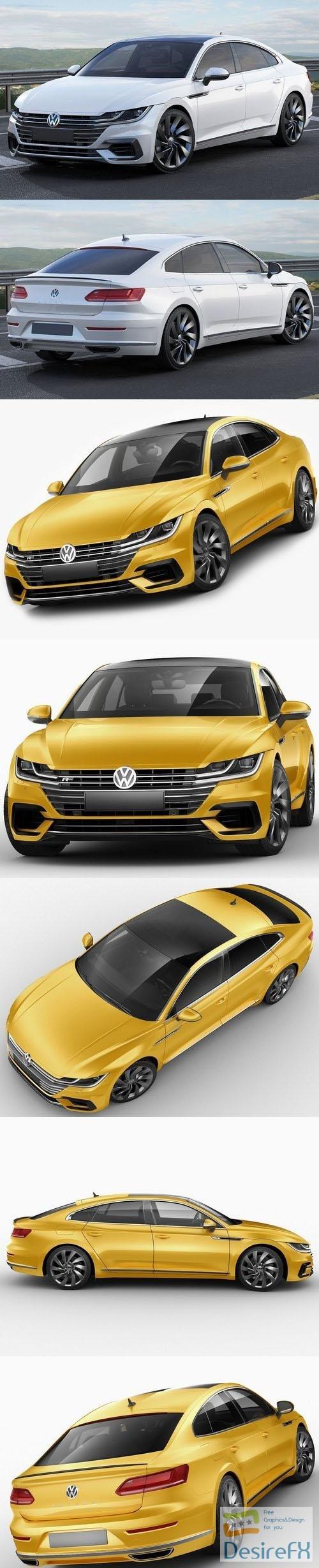 Volkswagen Arteon R-line 2018 3D Model