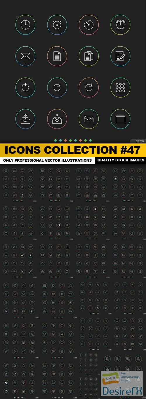 stock-vectors - Icons Collection #47 - 25 Vector