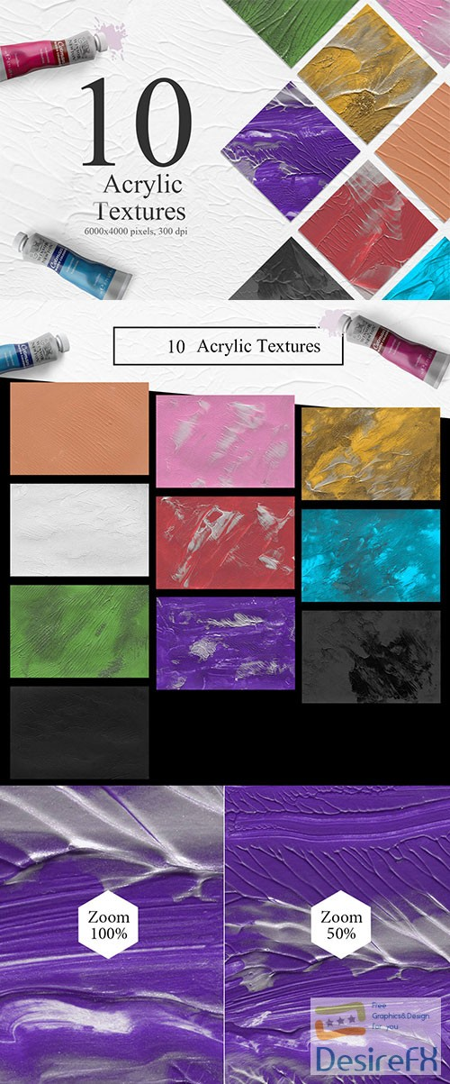 stock-images - 10 Acrylic Textures