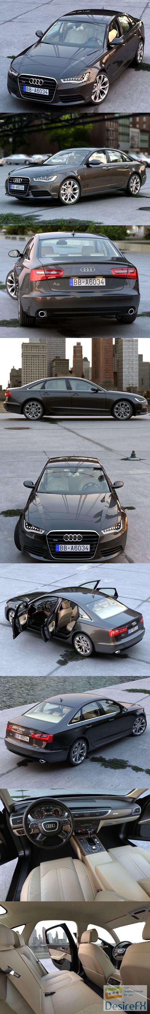 3d-models - Audi A6 2012 3D Model