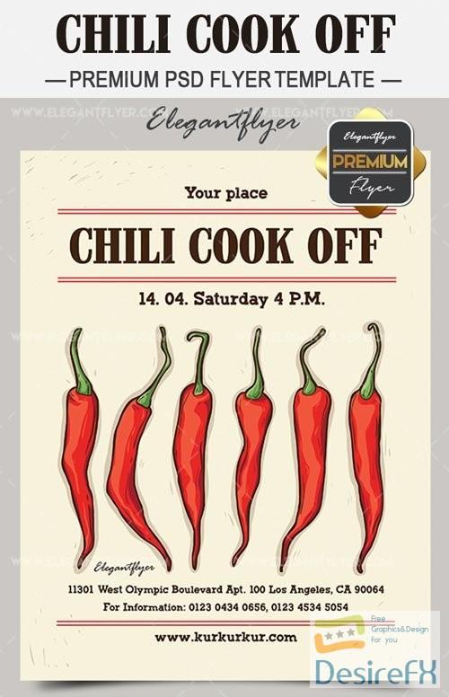Desirefxcom Download Free Chili Cook Off V Flyer Template - Chili cook off flyer template free