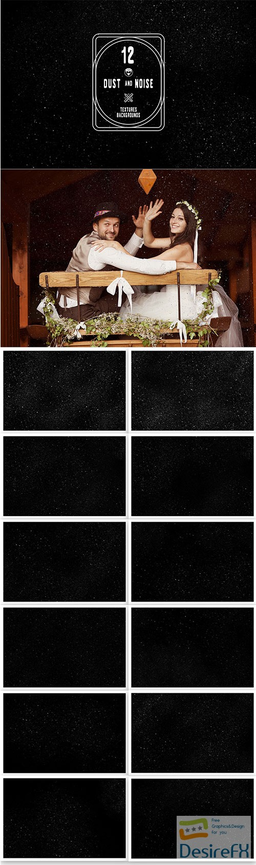 stock-images - 12 Dust and noise textures backgrounds