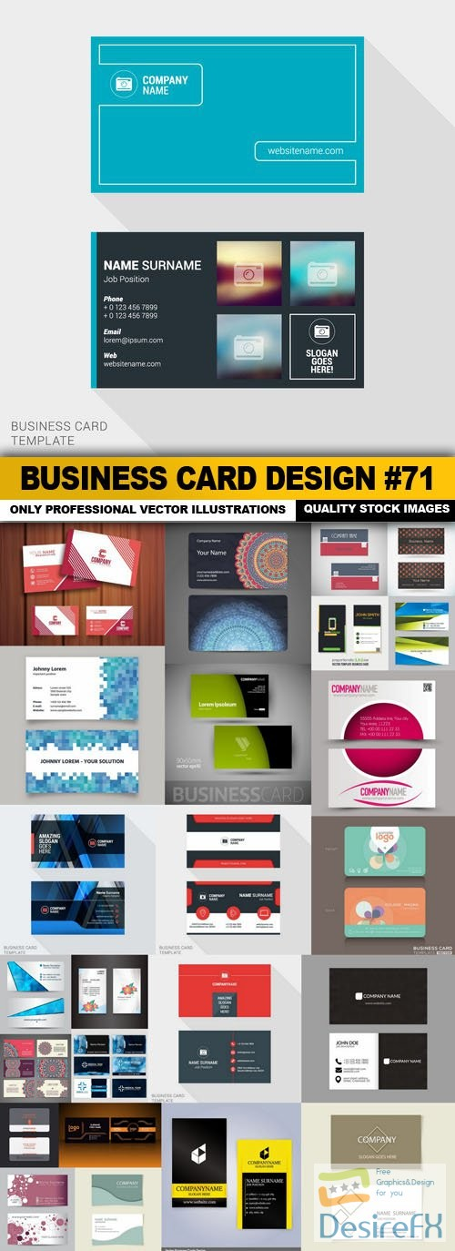 stock-vectors - Business Card Design #71 - 25 Vector