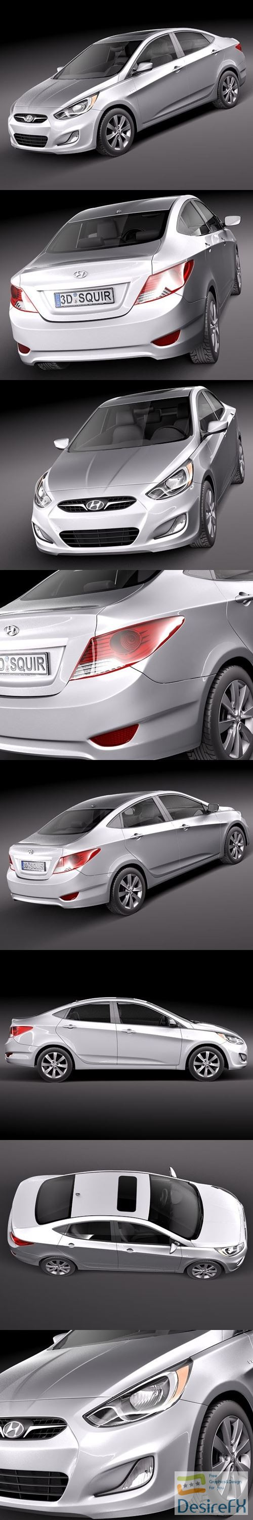 3d-models - Hyundai Accent sedan 2012 3D Model