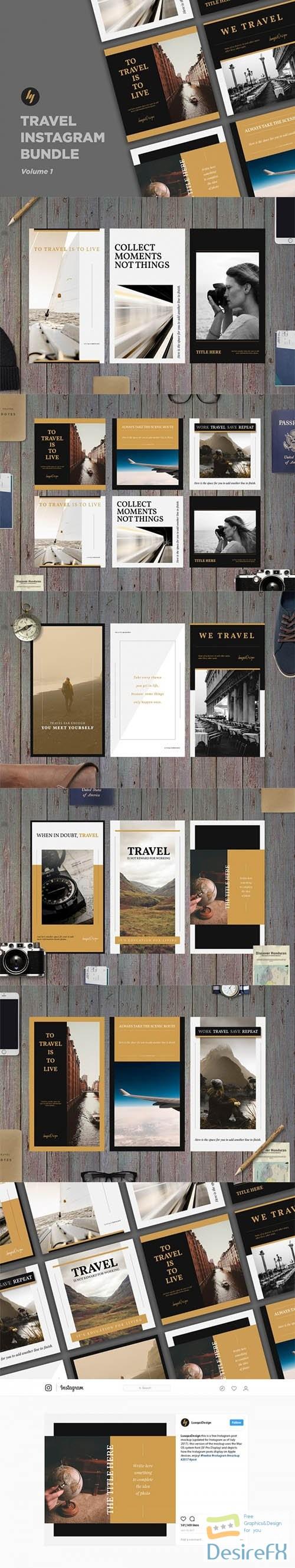 Travel Instagram Template Pack