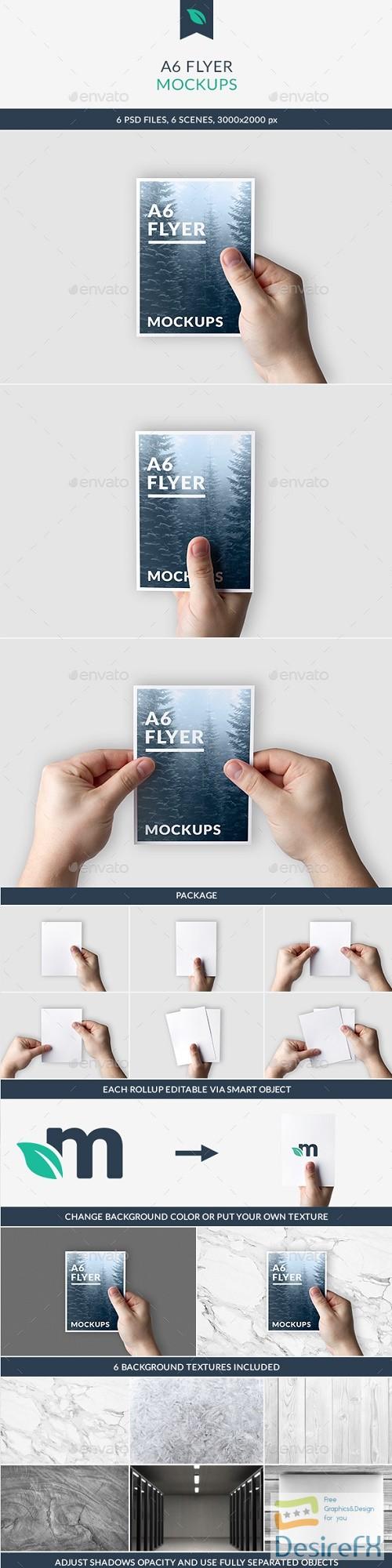A6 Flyer Mockups 21350583