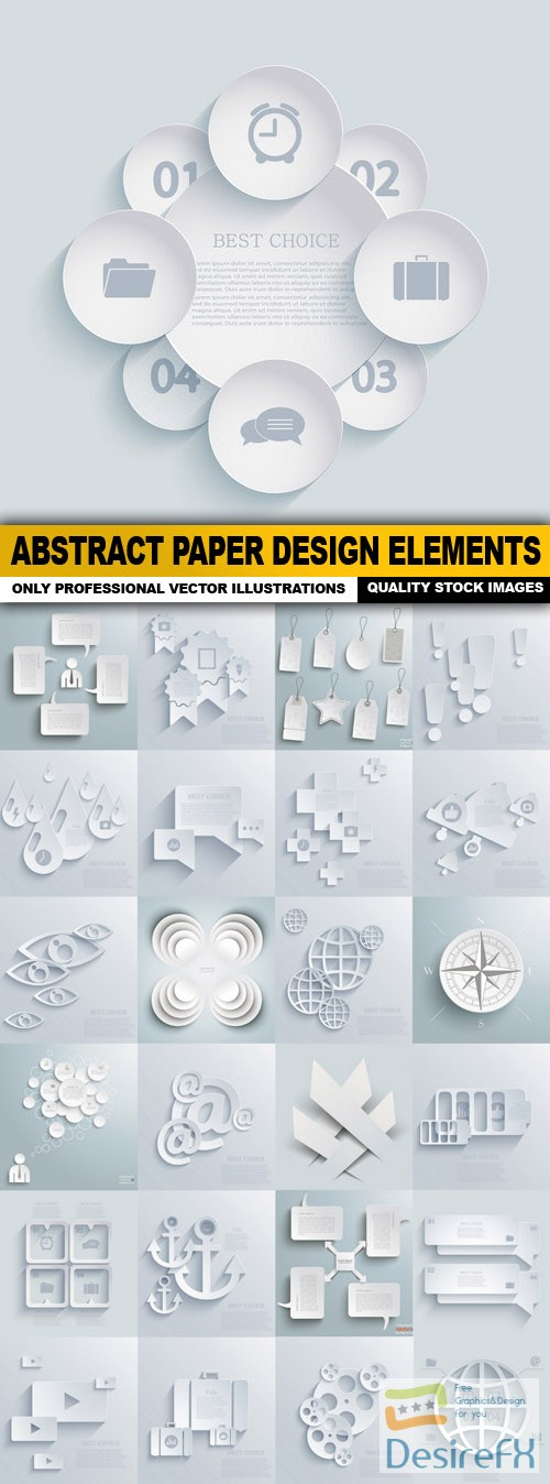 stock-vectors - Abstract Paper Design Elements - 25 Vector