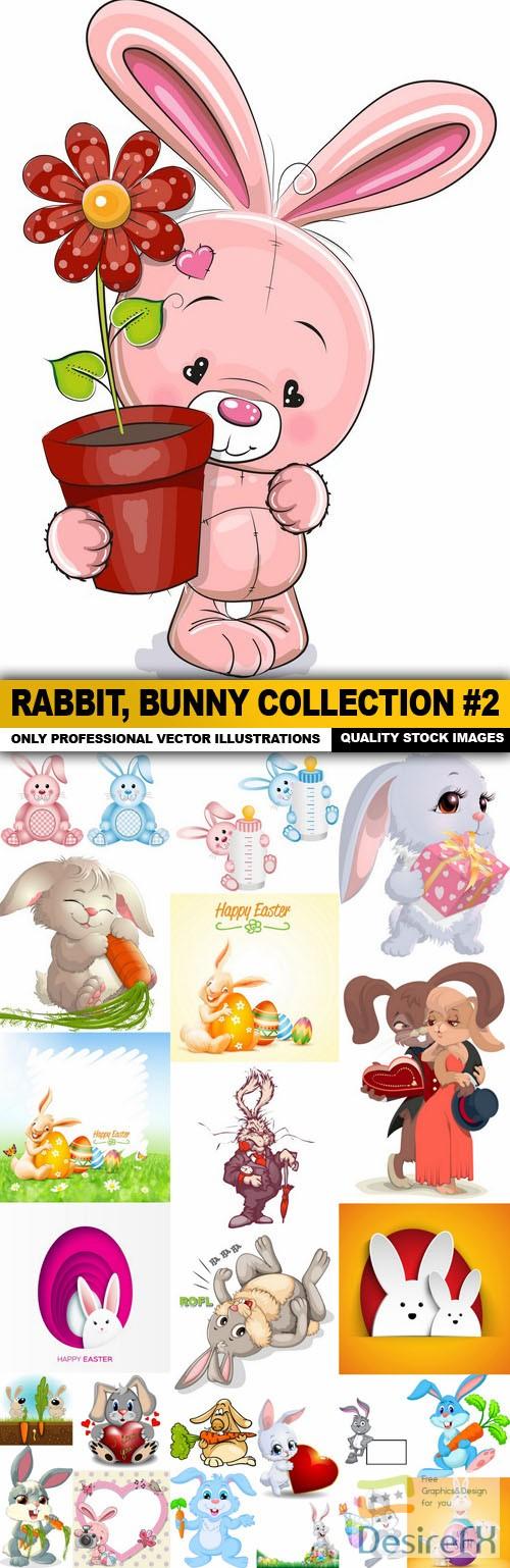 stock-vectors - Rabbit, Bunny Collection #2 - 25 Vector