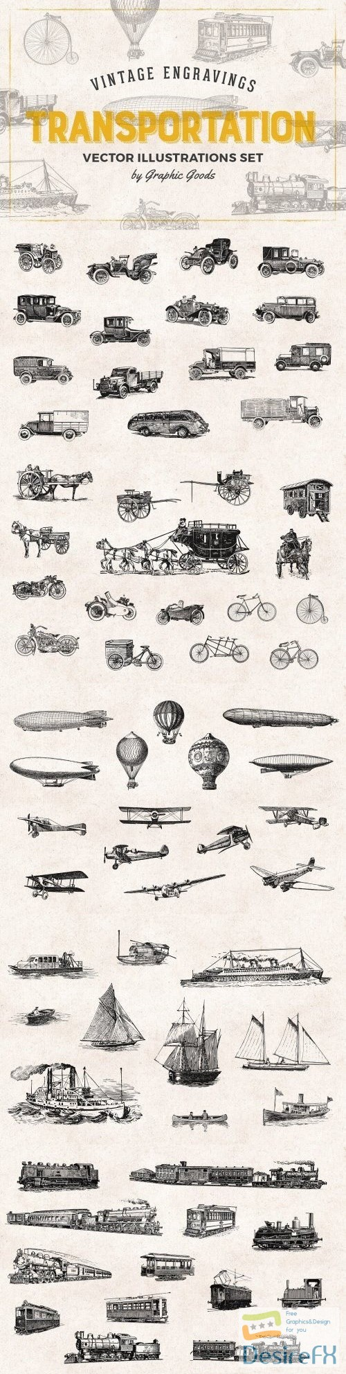 photoshop - Transportation Engravings Set 684871