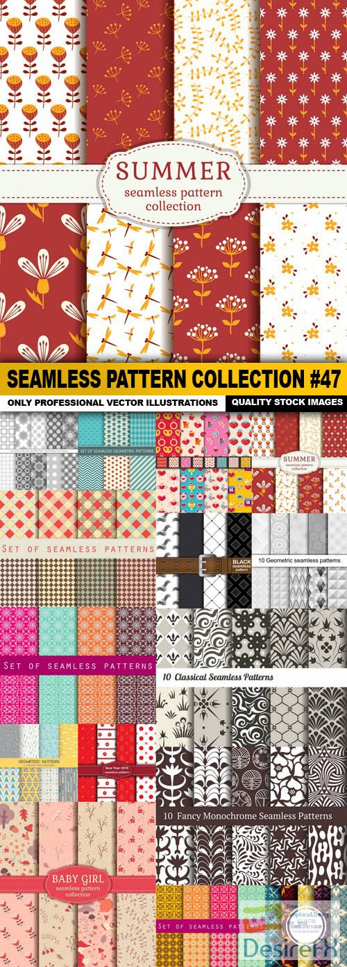 stock-vectors - Seamless Pattern Collection #47 - 15 Vector