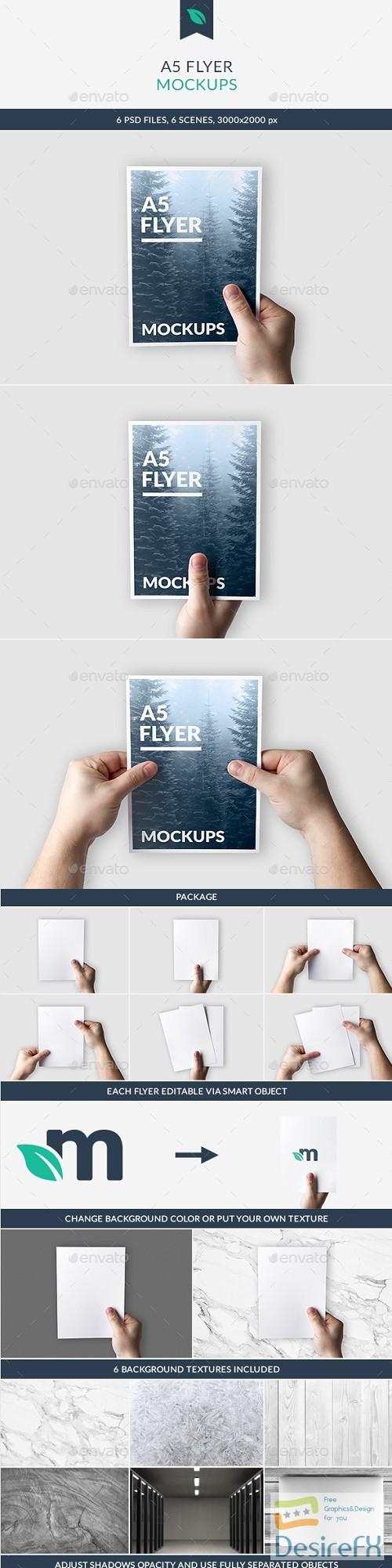 A5 Flyer Mockups 21356824
